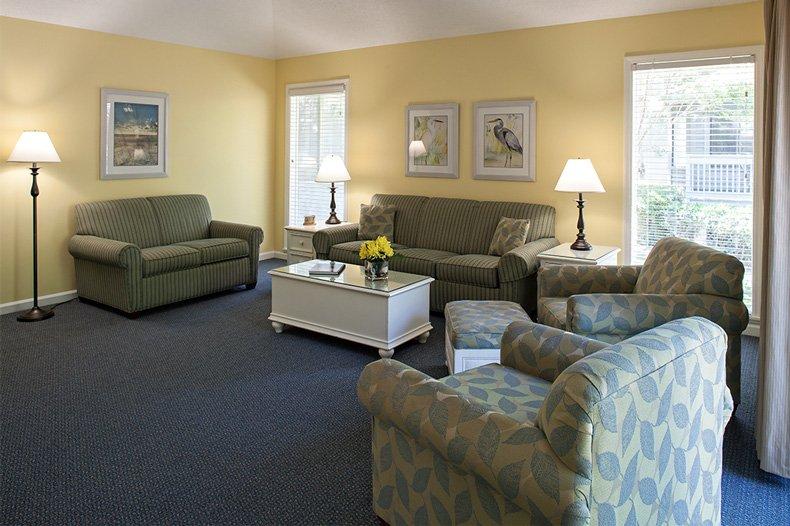 hilton head island carolina club resort 3 bedroom cottage living room