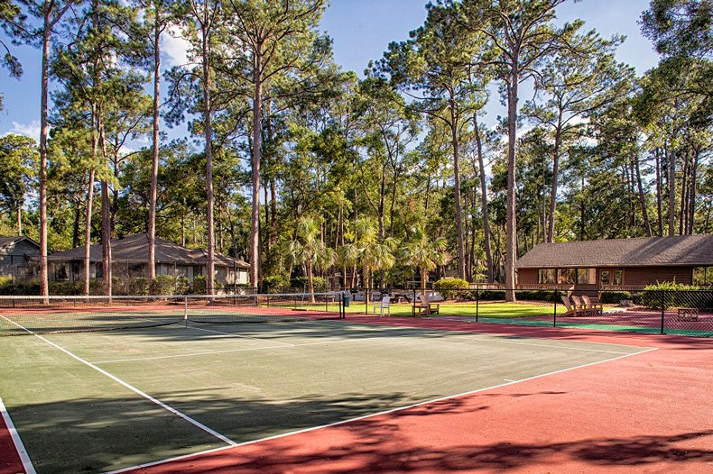hilton head island carolina club resort tennis courts clubhouse