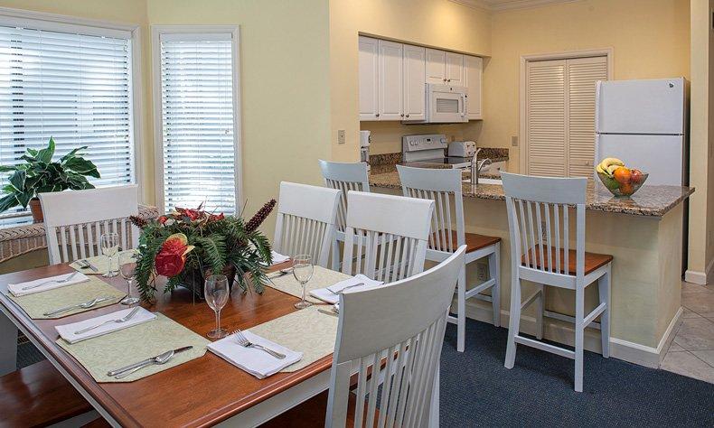 hilton head island egret point resort 2 bedroom dining kitchen