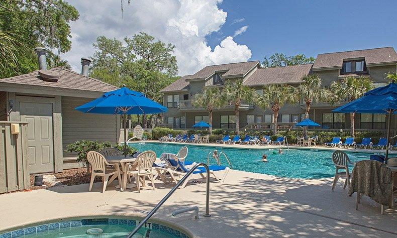 hilton head island egret point resort pool and units