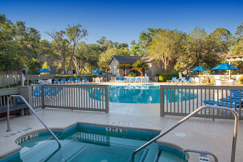hilton head island southwind resort hot tub and pool