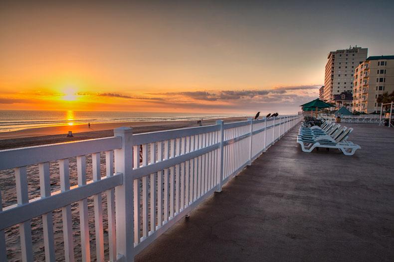 ormond beach royal floridian resort sunset