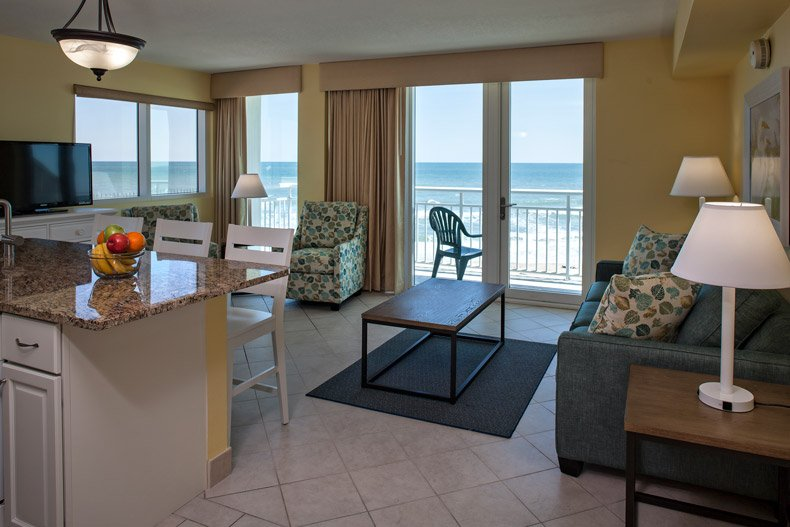 Ormond Beach Royal Floridian Resort 1bedroom Living Room