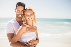 ormond beach ocean young couple