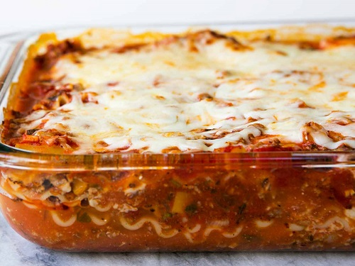 lasagna 5 healthy easy to make meals on vacation salad spinnaker resorts log