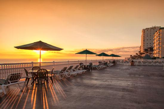 01 ormond beach royal floridan resort sunset rays