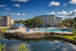 hilton head island bluewater resort lazy river pool from 6100 bldg