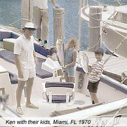 Ken Taylor and his children fishing