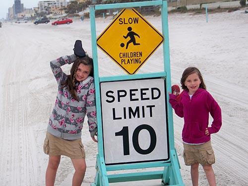 Walking the beach ormond beach fl 500x375px