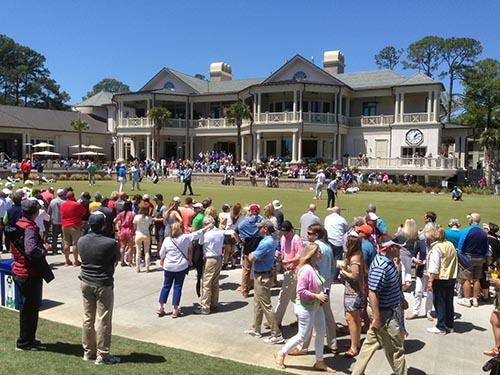 RBC golf tournament practice green clubhouse 500x375