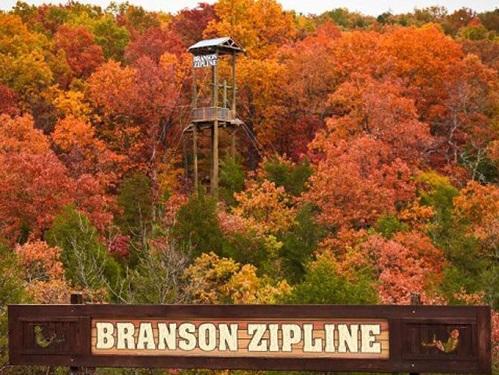 branson zipline fall foliage