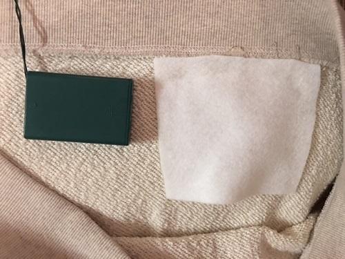 DIY Sweater light pocket