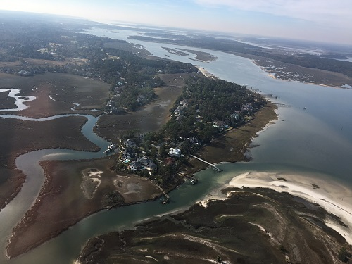 aerial view fly into the new year with hilton head helicopter tours