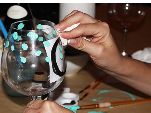 fall activities 2018 painting wine glasses